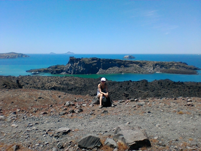на вулкане Санторини