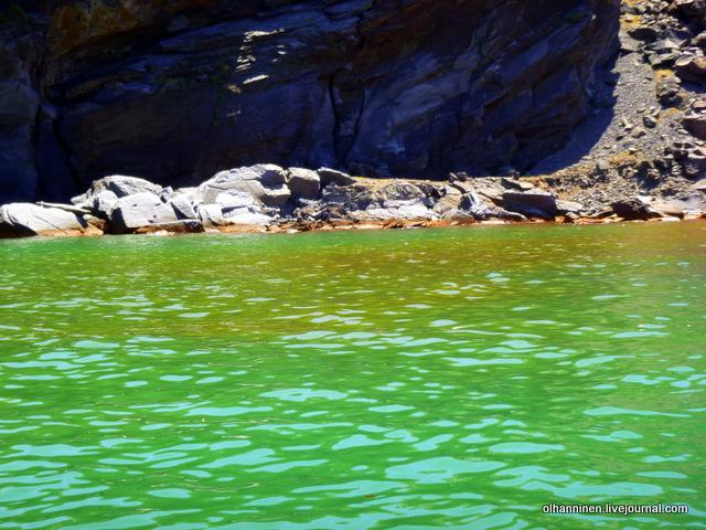 вода вулкана Санторини