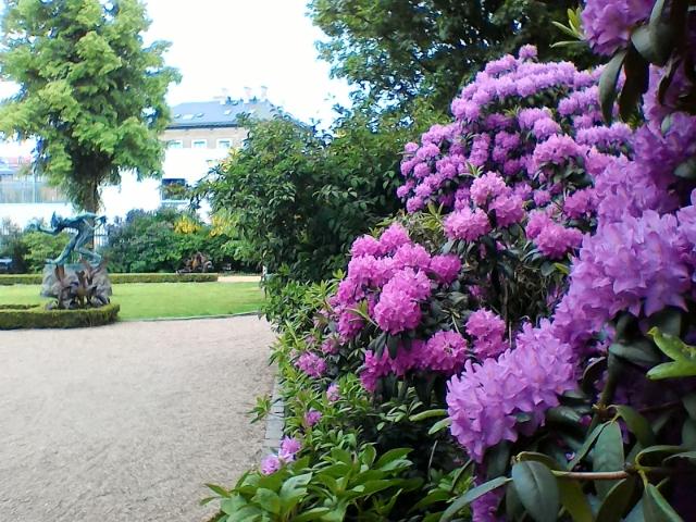 Тролль и цветы в парке Глиптотеки