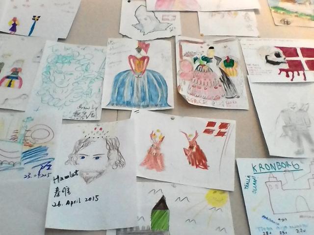 Комната детских рисунков Кронборга, королей и Гамлета