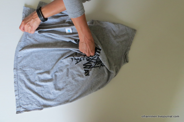 Щипковый метод складывания футболки