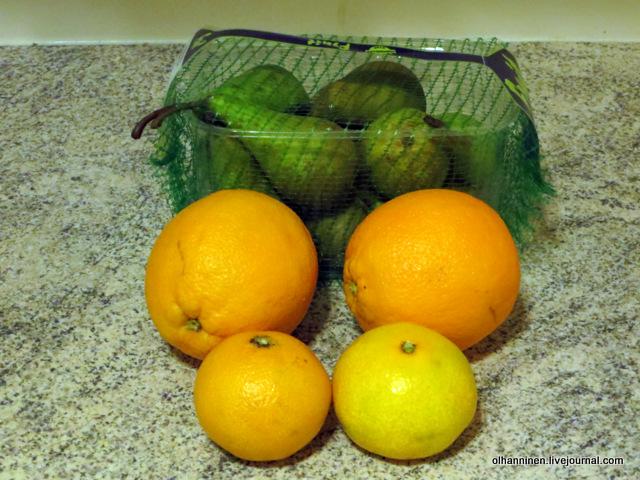 сетка и апельсины
