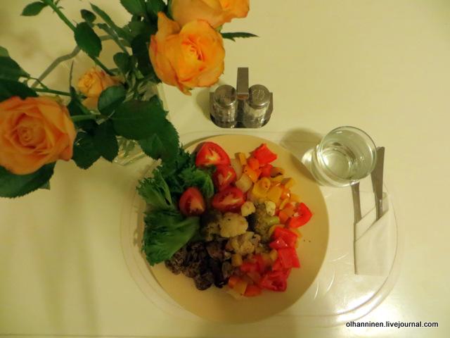 Запеченное в пергаменте мясо с овощами
