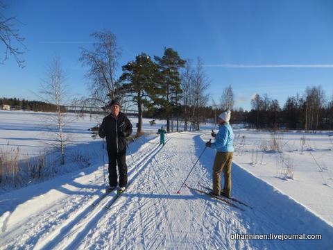 случайно  на лыжне