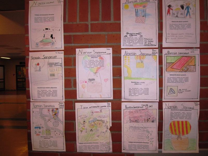 По стенам развешены сочинения детей