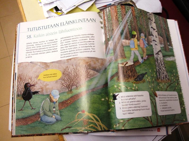 Тема урока - природа, которая окружает любого жителя Финляндии
