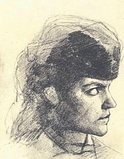 Голова террористки с картины Н.А.Ярошенко У Литовского замка. Находится в Русском музее