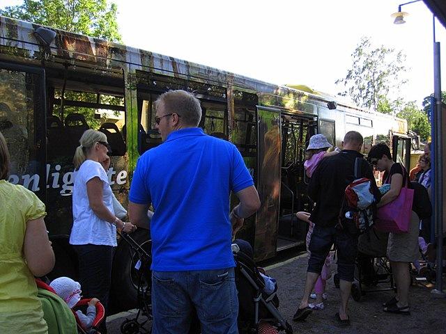 Доехать в Страну Муми-троллей можно на автобусах