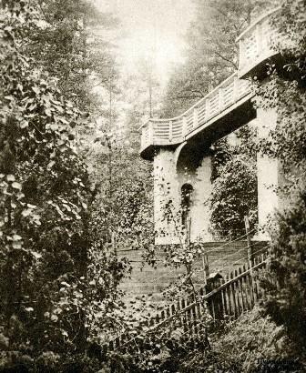 В 1947 году смотровая площадки виллы Арфа выглядела так