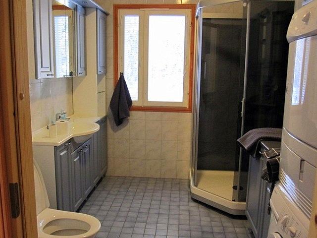 первый туалет, душ, стриральная и сушильная машины