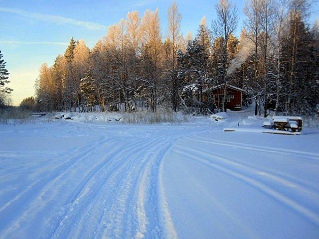 сауна и острова зимой