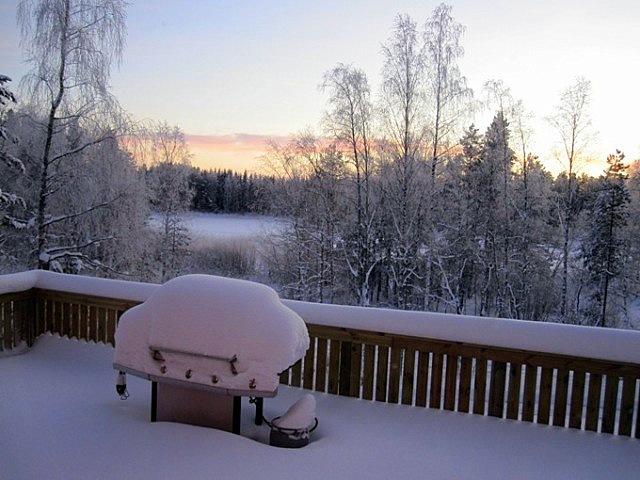 тераса зимой