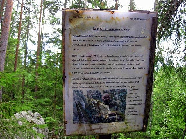 Некоторые местные краеведы считают, что Пейс Иммонен был вовсе не первобытным, а вполне современным пещерным жителем