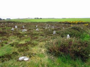 уничтоженный молнией камень в Hill O Many Stanes