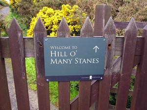 деревянный забор у Hill O Many Stanes