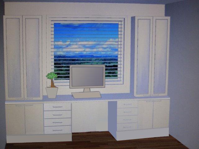 Шкаф у окна фото