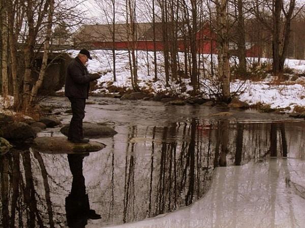 рыбалка на камне