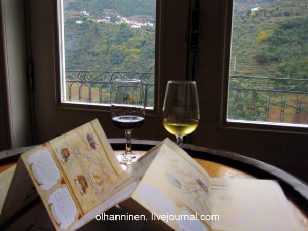 в карте винодельни показаны места, где собирали виноград для каждого определенного сорта портвейна