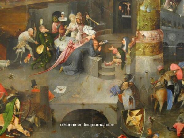 И. Босх. Искушение святого Антония.1505—1506. Фрагмент центральной части триптиха. Национальный музей древнего искусства, Лиссабон