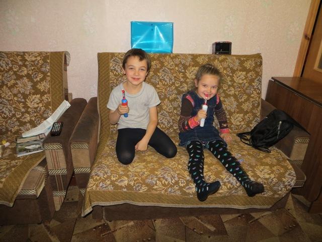 зубные щетки для питерских внуков