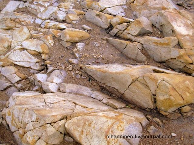 выбеленные ветром и морем камни