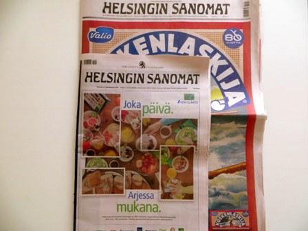 последний и первый экземпляры Хельсинки Саномат