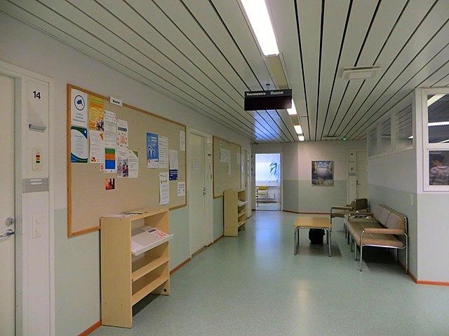 коридор офиса службы занятости