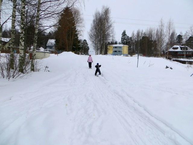 Катание на финских санках