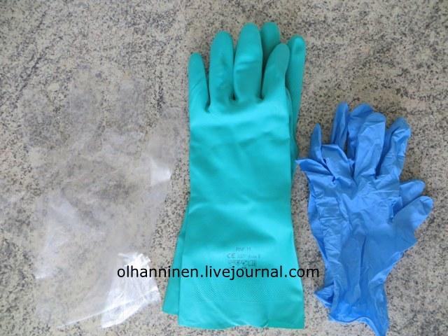 три вида перчаток
