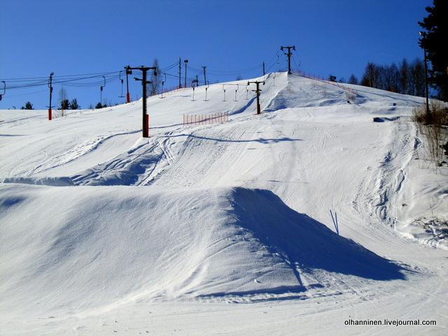 4 трассы для горных лыж и 1 санная