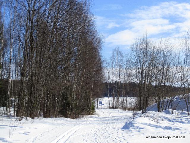 110 км трассы по озеру для равнинных лыж