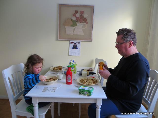 39-обедаем дедушкиной макаронной запеканкой