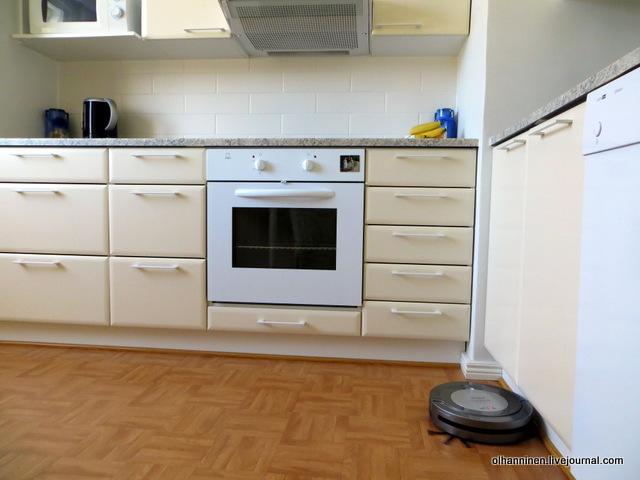 в кухне чистит углы