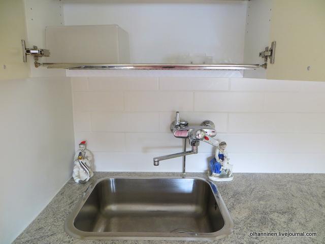 сушим фильтр и контейнер в сушилке для посуды