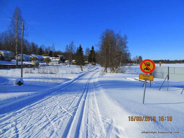 16-на следующий день лыжню проложили