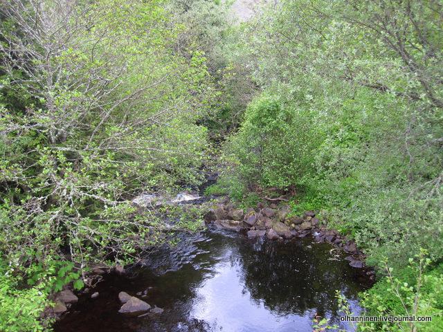 эта же река чуть вниз по течению с водопадами