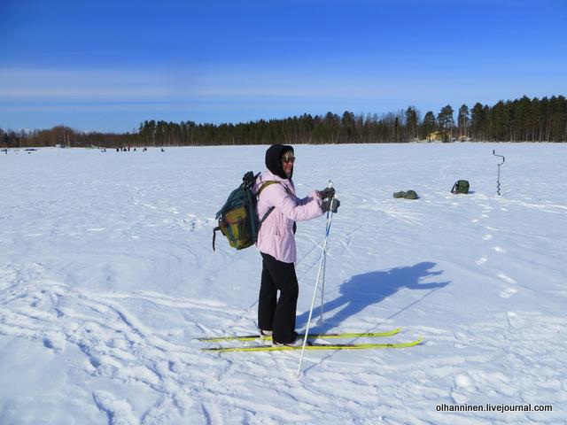 1 на лыжах с рюкзаком
