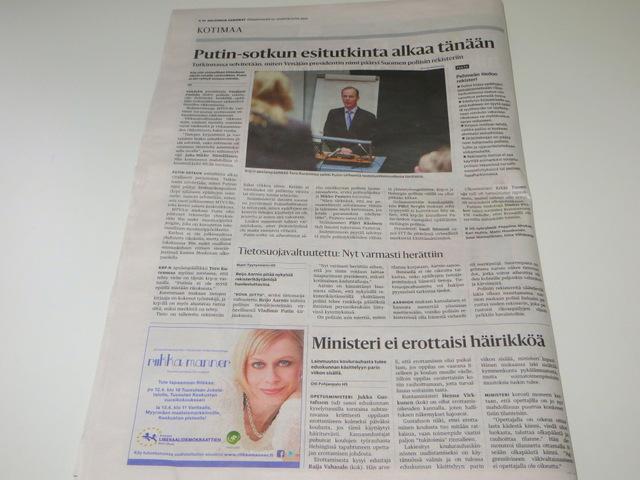 статья про Путина и списки в Хельсингин Саномат