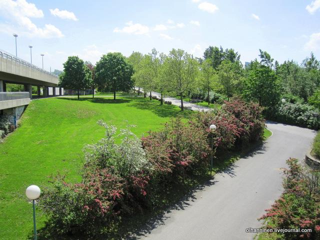 современный парк в Вене