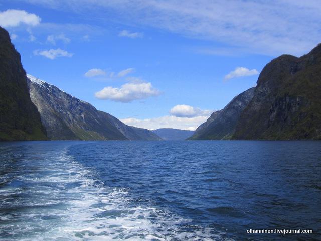 Норвегия, фиорд, снег