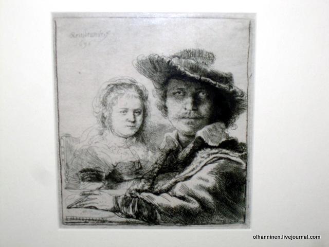 Rembrandt Harmenszoon van Rijn. Автопортрет с Саскией, 1636 год. Фотография, оригинал в Музее Рембрандта, Амстердам