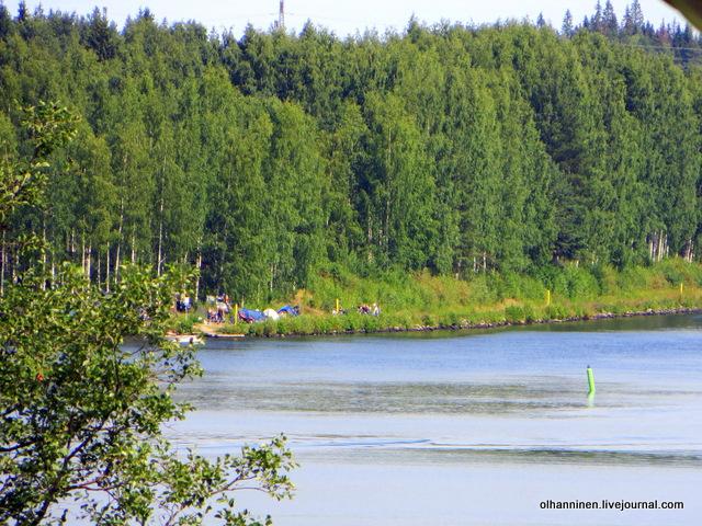 06 кемпинг Harley Davidson на озере Kuntoranta