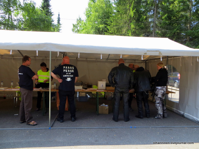 09 палатка для записи на парад Harley Davidson в  Varkaus