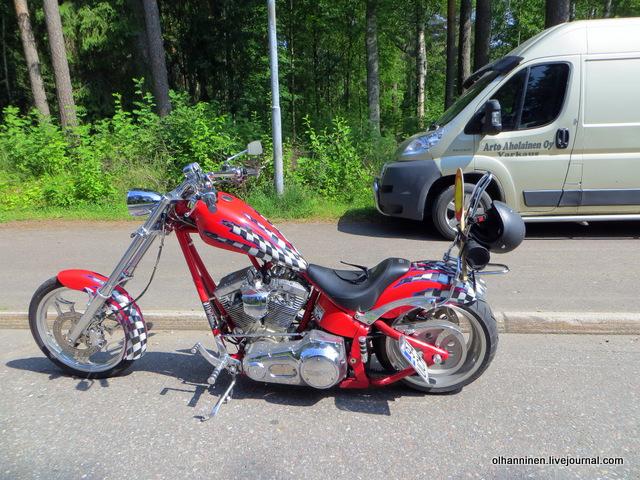 21 красный мотоцикл