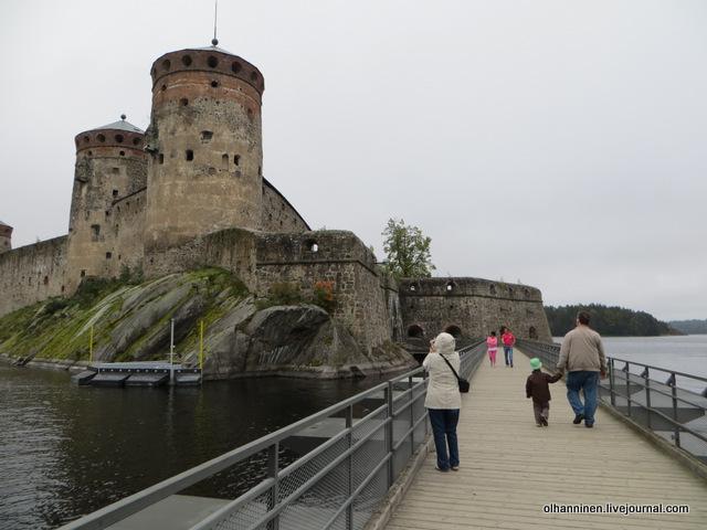 мост к крепости Олавинлинна в Савонлинне