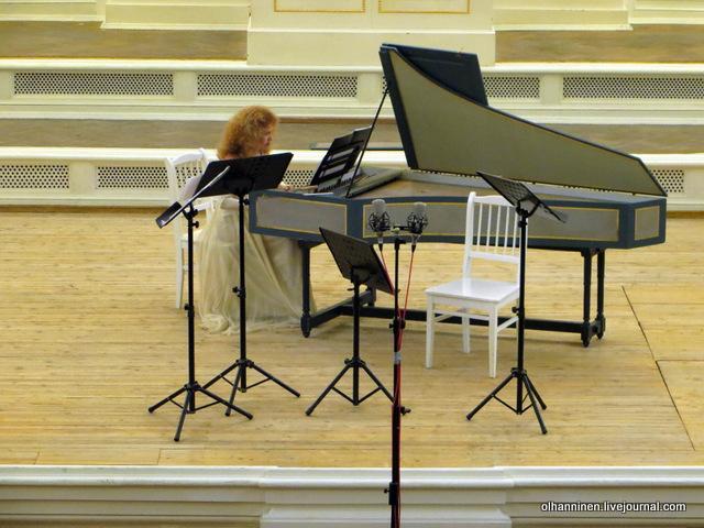 Ирина Шнеерова, клавесин, соло, фрагмент фуги