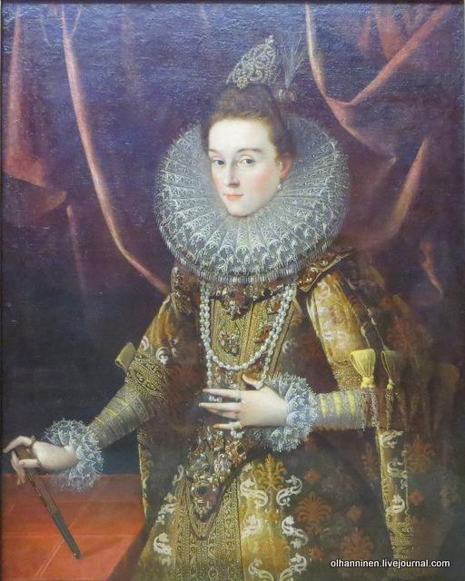 01 Хуан Пантоха де ла Крус. Портрет эрцгерцогини Изабеллы. 1599. Старая пинакотека. Мюнхен
