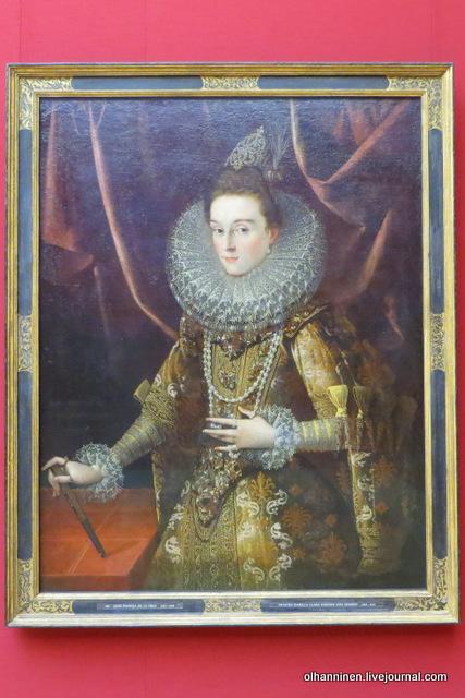 02 Juan Pantoja de la Cruz (1553 - 1608) Infanta Isabella Clara Eugenia of Spain (1599, Alte Pinakothek, München)
