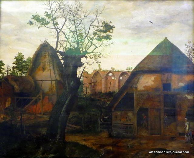 Cornelis Van Dalem, Landscape with farm, 103 x 128 cm, 1564, Alte Pinakothek, Munich, Germany