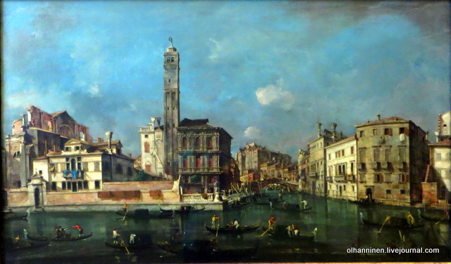 Francesco Guardi, 1712-1793, Canal Grande Bei San Germeia Venice,  Alte Pinakothek, Munich, Germany